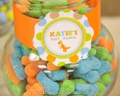 "DINOSAUR - Printable 2"" Party Circles - Baby Shower - DIY Dino Baby Collection - by Make Life Cute"