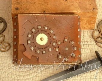 Small Steampunk Leather Belt Bag VIII