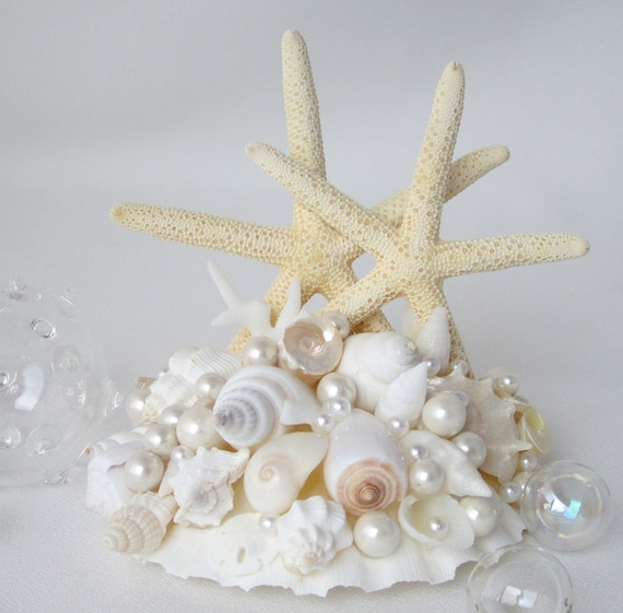 sea wedding cake toppers wedding starfish shell cake topper by beachgrasscottage 19732