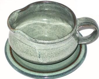 Slate Gray Gravy Boat- stoneware,handmade Gravy Boat, handthrown