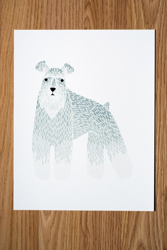 Schnauzer Illustration  - FREE US SHIPPING