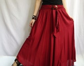 Breezy.. cherry Red Skirt or Dress