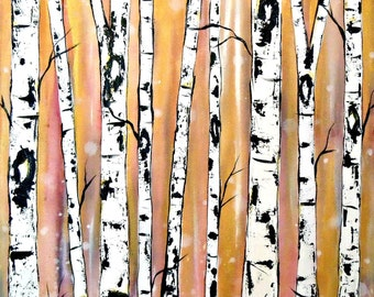 Metallic Birch Trees  by Kristen Dougherty
