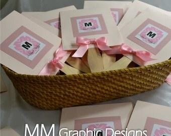 Custom Wedding Fan Program - Set of 50 - Pick your Colors and Design - Wedding Fans - Birthday - Baby Shower - Bar and Bat Mitzvah