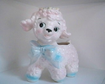 Vintage Home Decor Planter Baby Lamb Japan Spoko