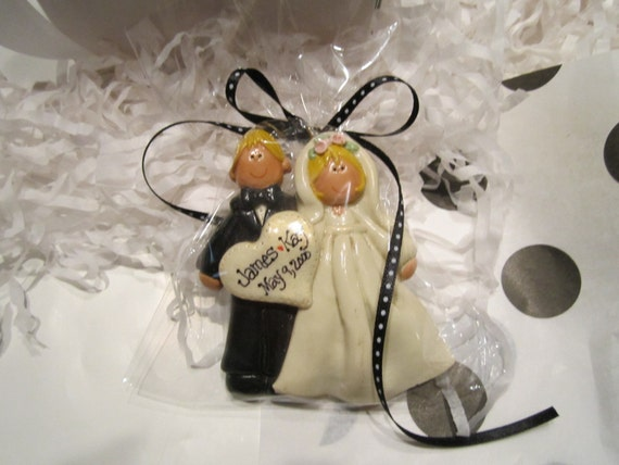 Wedding Gift Ornaments: Personalized Bride And Groom Wedding Ornament Or Favor First