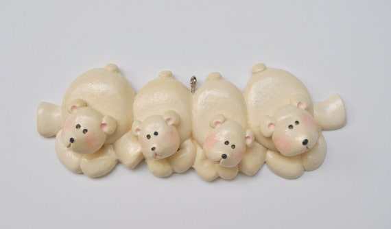 Personalized polar bear family of 4 christmas ornament for Family of 4 christmas ornament