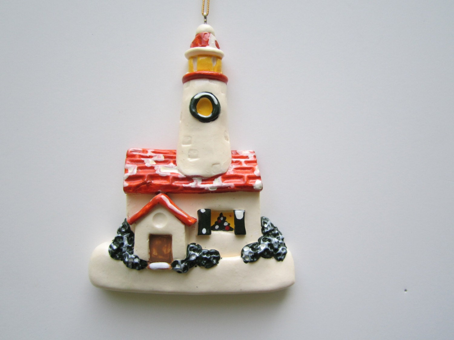 Personalized Lighthouse Christmas Ornament
