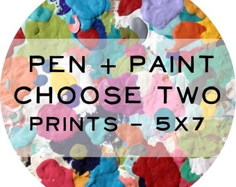 TWO 5 x 7 art prints, Inspirational Quote, Bible Verse, Scripture, Rainbow, Colorful, Joy Quote, Inspiring Quote