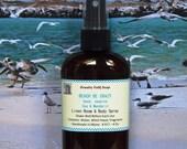 BEACH BE CRAZY Body Spray-  Sand, Jasmine, Sea & Mandarin - Natural Beach Body Mist