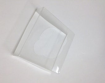QTY 100 Ultra Clear Bags Inserts for 4 x 4 x 9 Inch Flat Bottom Bags - INSERTS ONLY
