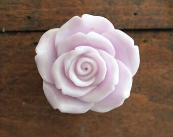 Lilac Flower Drawer Knobs - Lilac Cabinet Pulls Rose (RFK14-06)