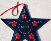 Ornament in Felt & Embroidery -- Personalized
