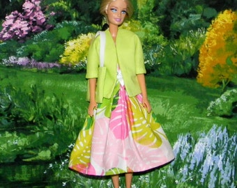 BSJB-06 ) Barbie outfit with jacket and bag