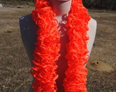 Neon Orange Ruffle Scarf