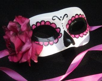 Rosa Electrico Mask, Day of the Dead/Dia de los Muertos/Halloween/Masquerade