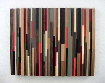Pink Abstract Art - Wood Art - Sculpture - Wood Wall Art - Modern Rustic Art