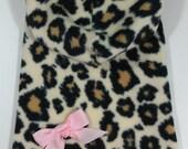 Big Leopard Hoodie Dog Dress Clothes Size XXXS through Medium by Doogie Couture