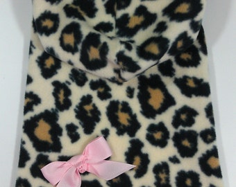 Big Leopard Hoodie Dog Dress Clothes Size XXXS through Medium by Doogie Couture