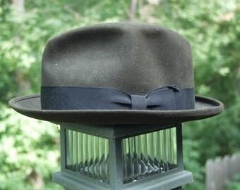 Vintage Felt Fedora Hat 1950-1960 Kasmir Finish