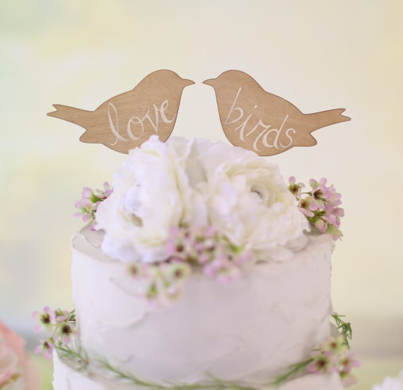 wedding cake with love birds rustic wedding cake topper birds we do vintage chic decor 26923