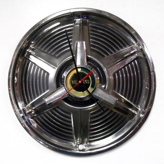 1965 Ford Mustang Spinner Hubcap Clock Pony Car Wall Clock