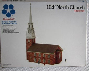 Vintage 1974 Old North Church Boston Kit Landmark Models