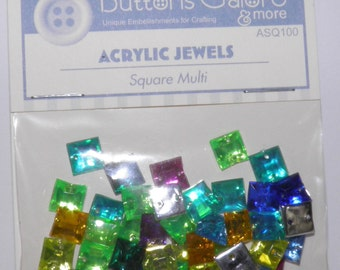 ON SALE  Square Acrylic Jewels