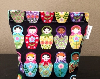 Matryoshka Cosmetic Bag Sandwich Bag