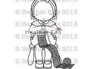 Pure Innocence 050 -  Digi stamp - Instant Download Digital Digi Stamp - printable