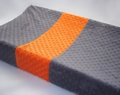 Changing Pad Cover Accent Stripe Gray Orange