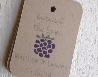 Blackberry Spread The Love Wedding Favor Tags