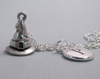 Witch Hat Charm  Silver Plated Charm Jewelry Supplies