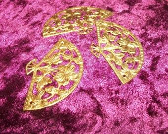 Brass Filigree  Fan stampings