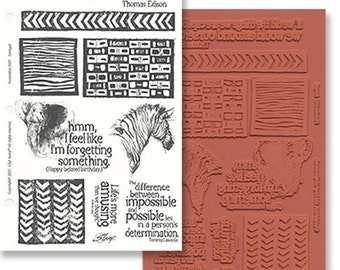 Reduced! Serengeti - African Theme - 9 Great UM Rubber Stamps - Cards - Collage - ATC - Domino Art - Scrapbooks - FREE Shipping