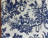 3 1/3 yards of never used vintage toile home dec fabric