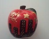 New York City piggy bank ceramic Big Apple I heart NY punk boho soho NYC 1980s 80s