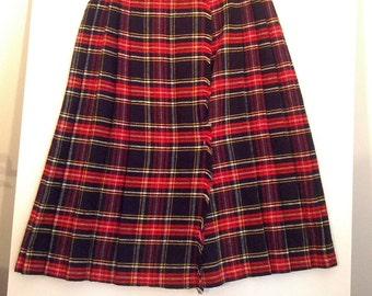 80s mini skirt kilt grunge schoolgirl mini skirt boho bohemian uniform plaid tartan wool