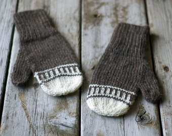 Knitting Pattern - Knit Wool Mittens - Knitted Mittens - Winter Accessories -...