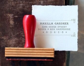 Custom Return Address Stamp // MARILLA // typeset