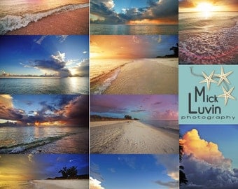 MickLuvin Set 3: 10 Amazing Colorful Real Beach Skies Sky Clouds Overlays Backgrounds - Portrait Enhancement Tool