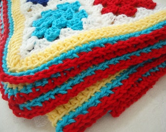 Primary Colors Blanket or Lovie for Boys or Girls