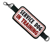 Service Dog In Training Alert Warning Double Patch Leash Wrap