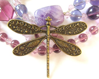 4 Antique bronze Dragonfly charms bug jewelry pendants craft  49mm x 38mm  AB