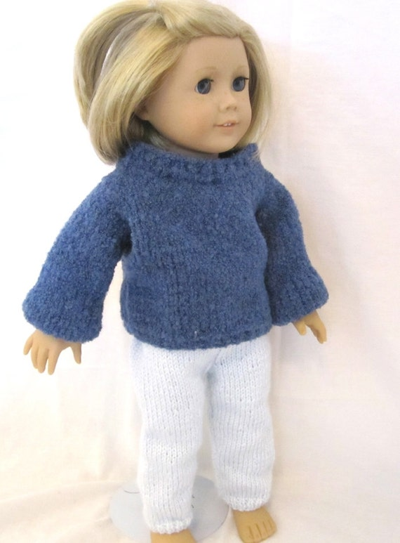 """Blue Sweater Legging Set 18"""" Inch Doll Outfit"""