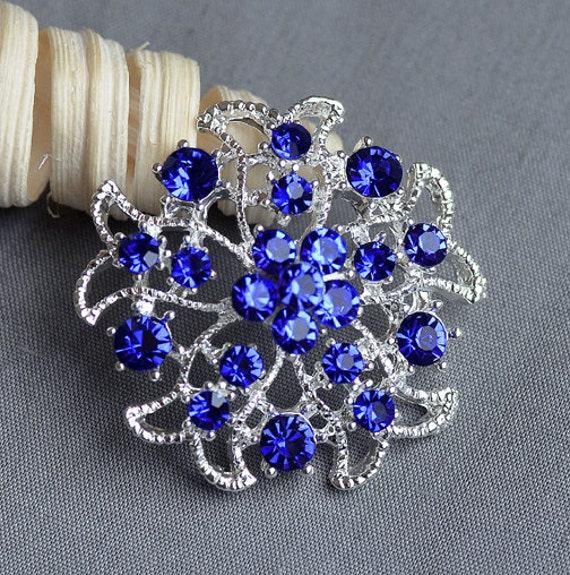 wedding cake images pictures 5 royal blue rhinestone button embellishment 22953