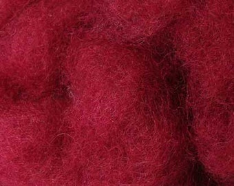 2 oz C-1 Needle Felting Wool Scarlet