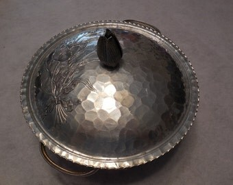 HAMMERED ALUMINUM Covered Serving BOWL