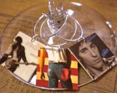 Bruce Springsteen Album Cover Wine Charms for the Music Lover or CUSTOM order Any Band Album Covers Fast Ship Great Gift for Best Friend
