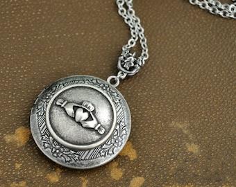 silver locket necklace, Claddagh Locket Necklace, Silver Locket, locket necklace, photo locket, Claddagh